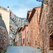 Empty old street, Collbato, Spain — Stockfoto