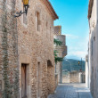 Passageway in Peratallada, Spain - Stock Photo