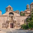 Main entrance, Monastery of Santa Maria de Poblet, Spain - Stock Photo