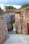 Medieval street, Collbato, Spain — Stock Photo