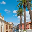 Summer street, La Orotava, Tenerife island, Spain — Stock Photo