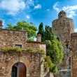Medieval architecture, Peratallada, Spain — Stock Photo