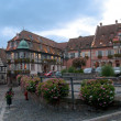 Alsace square - Stock Photo