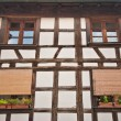Half-timbered house close-up — Stock Photo