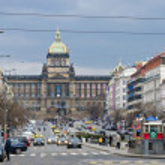 St. Wenceslas' square, Prague — Stock Photo