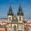 Stock Photo: Church of our lady before tyn, old town square, Prague