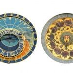 Prag astronomik saat, eski şehir Meydanı, Çek Cumhuriyeti — Stok fotoğraf