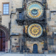 Foto Stock: Old astronomical clock in Old Town Square, Prague