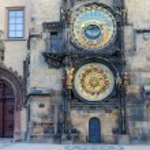 Eski Şehir Meydanı, Prag eski astronomik saat — Stok fotoğraf