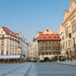 Stock Photo: Sunrise at Staromestska's Square (Old Town Square), Prague, Czech Repu