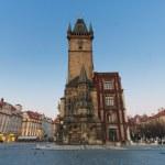 staré radnice hodinová věž na staré náměstí, Praha — Stock fotografie