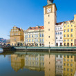 Stock Photo: Smetana Museum, Old Town Water Tower, view from Vltava river, Prague
