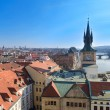 Stock Photo: Prague roof tops panorama, birds eye view, Czech Republic