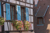 Fragment of a half -timbered house — Stock Photo