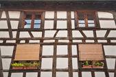 Half-timbered house close-up — Stock Photo