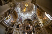 The ceiling of St. Nicholas Church, Prague, Czech Republic — Stock Photo