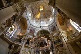 The ceiling of St. Nicholas Church, Prague, Czech Republic — Stock Photo