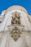 Detail of a St. Nicolas Church in Prague, Old Town Square — Stock Photo