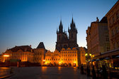 Old Town Square at night (Staromestske Namesti), Prague — Stock Photo