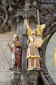 Clock tower statue, Statue on the left side of the astronomical clock in Pr — Stock Photo