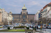 St. Wenceslas' square, Prague — Stock Photo