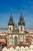 Church of our lady before tyn, old town square, Prague — Stock Photo