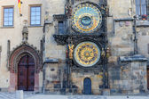 Old astronomical clock in Old Town Square, Prague — Stock Photo
