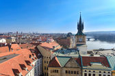 Prague roof tops panorama, birds eye view, Czech Republic — Stock Photo