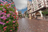 Paved street in Alsace — Stock Photo