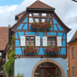 Stock Photo: Typical half-timbered house, Alsace, France