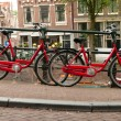 Bikes on Amsterdam street — Stock Photo