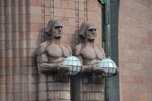 Details of central railway station, Helsinki — Stock Photo