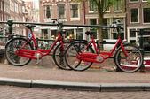 Bikes on Amsterdam street — Stock Photo