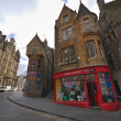 Stock Photo: Edinburgh historical city center, Cockburn Street