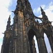 Scott Monument, Princes Street Gardens, Edinburgh - Stock Photo