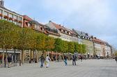 Rua de cidade européia — Fotografia Stock