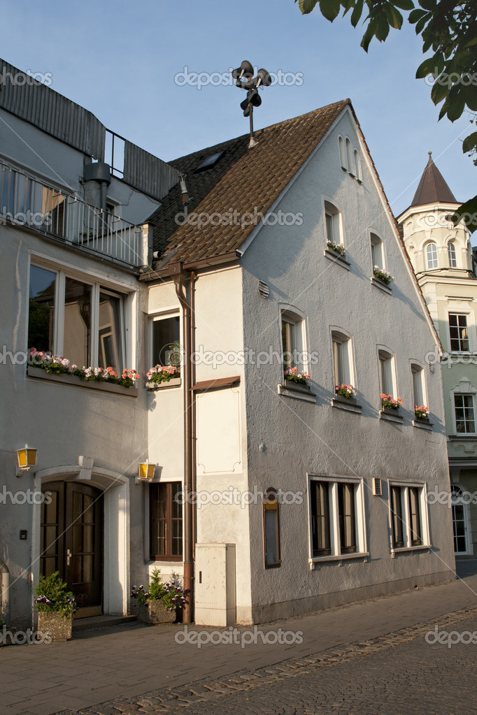 Old Houses In German Town Weiden Stock Photo