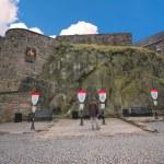 Architecture inside the Edinburgh castle — Stock Photo