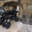 Big Renovated Cannon on Edinburgh Castle — Stock Photo