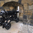 Stock Photo: Big Renovated Cannon on Edinburgh Castle