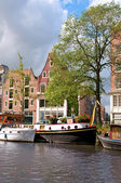 Channel in Amsterdam — Stock Photo