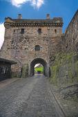 Cancello di portcullis, castello di edimburgo — Foto Stock