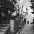 Famous Hohenschwangau Castle, black-and-white, Germany — Stock Photo #9552840