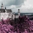 Famous Neuschwanstein Castle, Bavaria, Germany - Stock Photo
