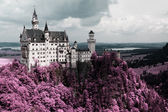 Famous Neuschwanstein Castle, Bavaria, Germany — Stock Photo