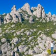 Girl in Montserrat mountain - Stock Photo