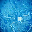 Royalty-Free Stock Photo: Blue circuit board