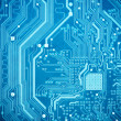 Blue circuit board — Stock Photo #10723953