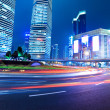 Shanghai downtown at night — Stock Photo #10724077