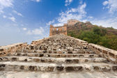 The great wall against a blue sky — Stock Photo